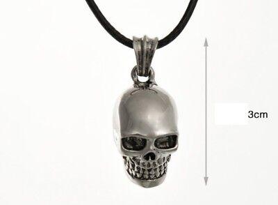 Mode Herren Halskette Kette Totenkopf Punk Gothic Scull Skull Schädel Anhänger