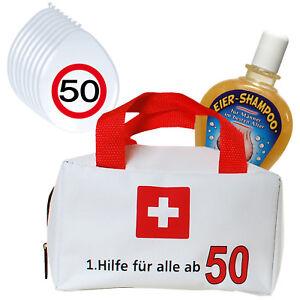 1 Erste Hilfe Tasche Gefüllt Mit Shampoo 8 Luftballons Zum 50