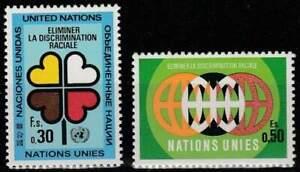 Nations-Unies-Geneve-postfris-1971-MNH-19-20-Jaar-Tegen-Rassendiscriminatie