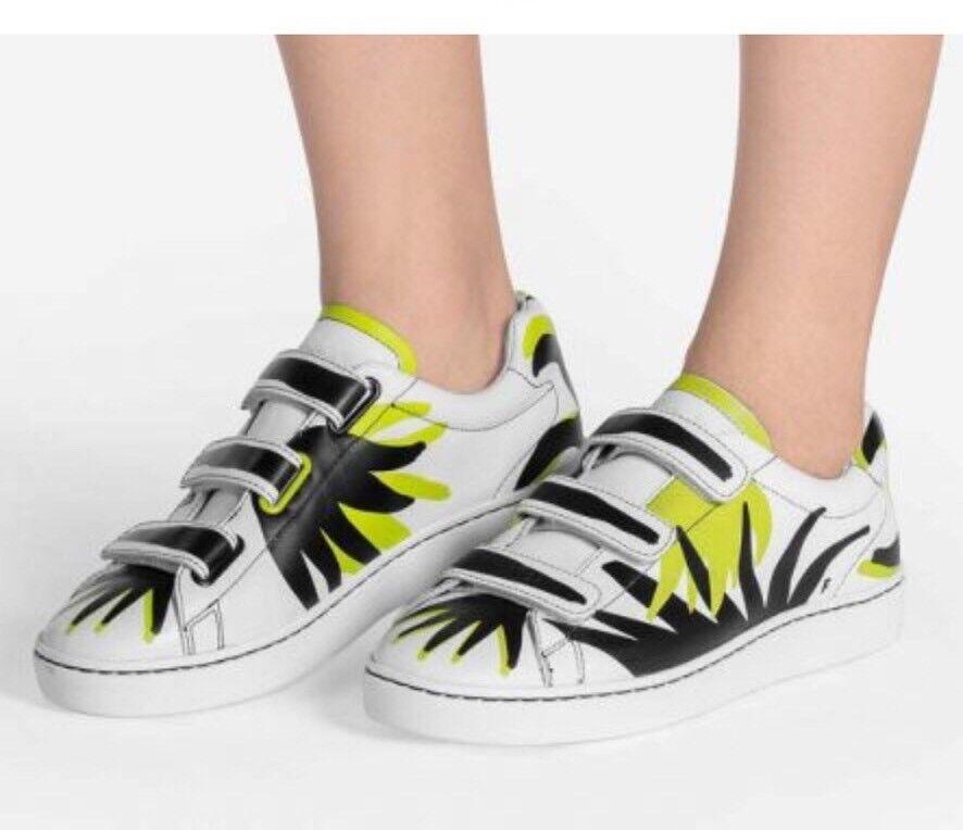 Ash Ash Ash kvinnor Storlek 7.5 - 38 Pharell Flame Low Top läder skor MultiFärg NWB  erbjuder 100%