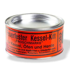 Feuerfester Kessel-Kitt Froschmarke 500g Ofen Herde Dichtungskitt ...