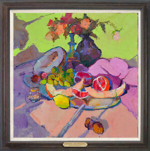 Hand-painted-Original-Oil-painting-art-impression-still-life-On-Canvas-24-034-X24-034