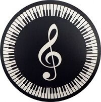MOUSE MAT TREBLE CLEF AND KEYBOARD CIRCULAR