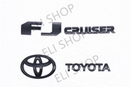 2007-2014 Toyota FJ Cruiser Rear Door Emblem Logo Badge Nameplate Gloss Black