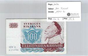 Schweden - Geldschein 100 Kronor 1970 C