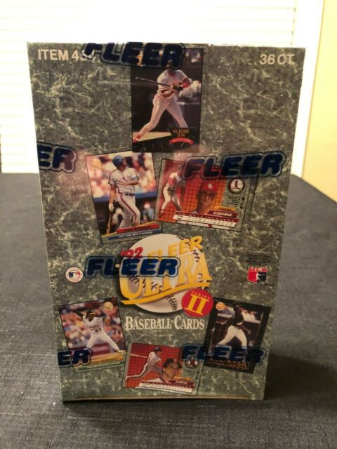1992 Fleer Ultra Baseball Series 2 Box of 36 Packs