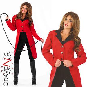 Tamer Jacket Adult Circus Costume Ladies Ringmaster Lion Fancy Dress qP8vwxAnH