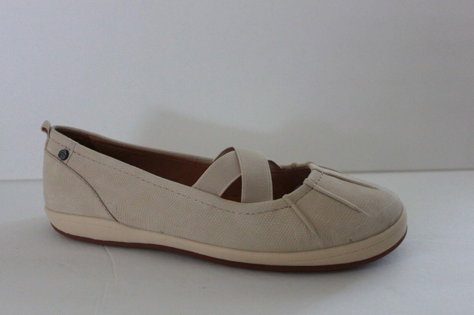 Nurture Damenschuhe Schuhe Größe 9 M Luna Bonita Cream Leder Casual Flat Sneaker