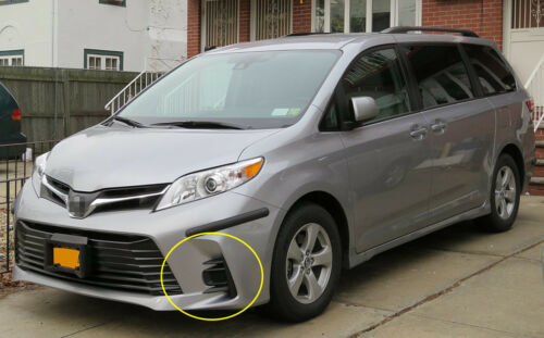 For 2017 ~ 2018 Toyota Sienna Complete Kit Fog Light Lamp //1Set W// Switch Wire