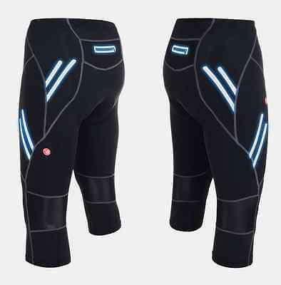 Mens Outdoor Cycling 3/4 Three Quarter Legging Shorts Padded Tights Capris Pants