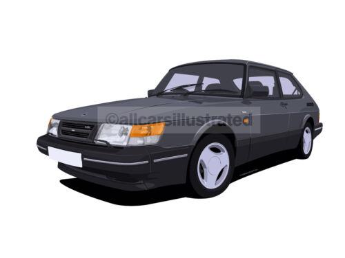 SAAB 900 METAL KEY RING CHOOSE YOUR CAR COLOUR.