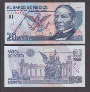 100 20 Nuevos Pesos 10.12.1992 VF or Better We Combine Mexico banknote P