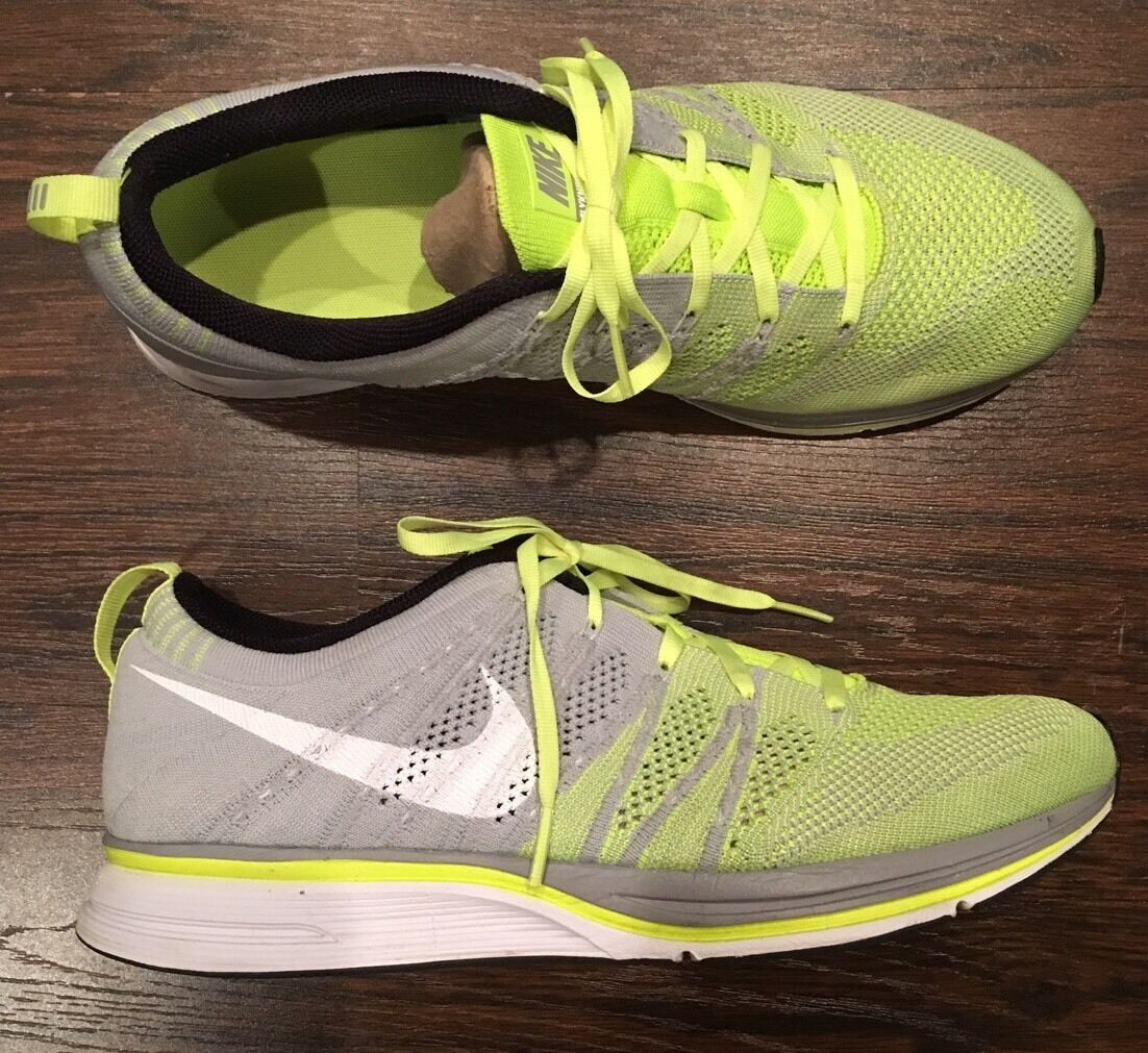 Men's Nike Flyknit Trainer Volt Grey Size 10