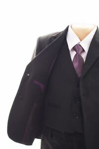 Free P/&P Grey Boys Finest Slim Fit Navy Black Suit 1 to 15 year RRP 59.99