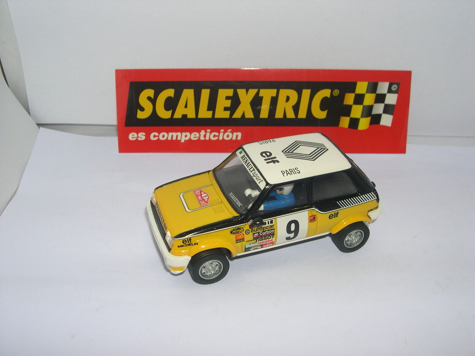 SCALEXTRIC SCX SPAIN PLANET CARS MYTHICAL RENAULT 5 CUP RAGNOTTI-ANDRIE