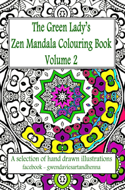 Large Print A3 Adult Colouring Book Mandalas Visual Aid Art Therapy Henna