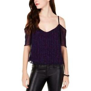 XOXO Womens Black Lace Chain-Detail Night Out Blouse Top Juniors XS BHFO 9457