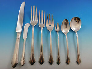 Lady Caroline by Gorham Silverplate Flatware Set for 12 Service 107 pcs Dinner