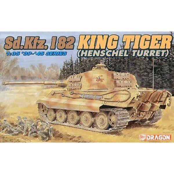 drake 6208 Sd.Kfz 182 Kingtiger Henschel Turret 1  35 -skala plastmodellllerl kit