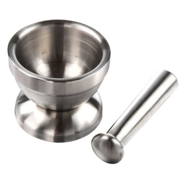 1X(Mortar and Pestle (Stainless Steel) S7K5)