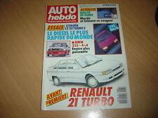 Auto hebdo N°561 CX 25 TRD Turbo 2.Volvo 760 GLE Turbo D.Rallye de Suède