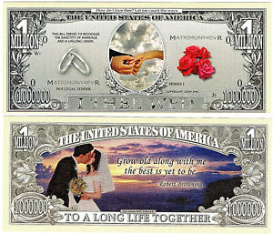 Wedding Novelty Bank Note Marriage Gold Rings Guest Favours
