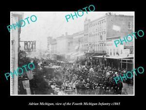 OLD-LARGE-HISTORIC-PHOTO-OF-ADRIAN-MICHIGAN-CIVIL-WAR-4th-MICHIGAN-INFANTRY-1865