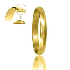 Hallmarked-9ct-Yellow-Gold-Wedding-Ring-3mm-Profile-D-Shaped-Finger-Size-H-Z-2