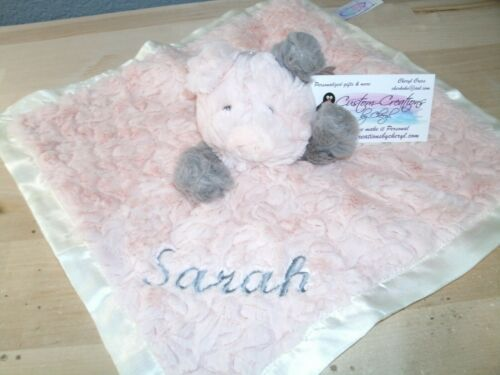 Putty Pig  Animal Blanket Personalized Security Blanket Baby Blankie So Soft