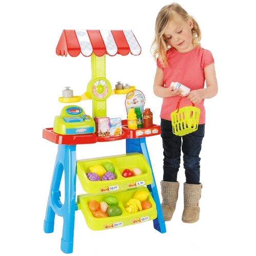 Toy Market Stall Toyrific Shop Play Kids Plastic Food Grocery Accessories 30pcs