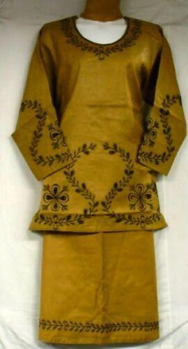 New Women African Traditional Dashiki Skirts Suit Ethnic Mustard Black Free size