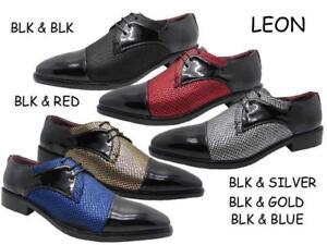 Nouveau Hommes Mode Robe Chaussures Formel Oxford Lacets Décontractées Taille - 7.5-13 Leon 540-afficher Le Titre D'origine