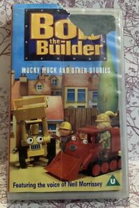 Bob-The-Builder-Mucky-Muck-VHS-Video-Tape-Childrens-Original-Classic-TBLO