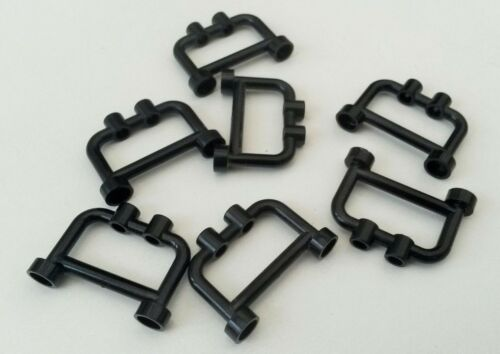 7x Black Lego Railings N620 Fencing Used condition Bars