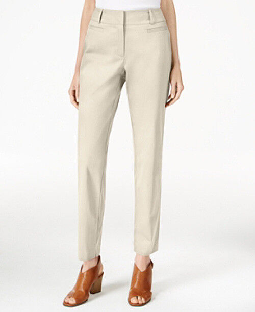 NWT Style & Co Womens Stone Wall Beige Ankle Trousers Size 16