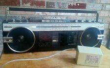 Vintage Sharp Auto-Reverse QT-70 Boom Box Portable AM/FM Radio Cassette Player