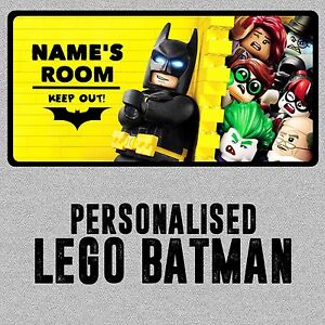 Personalised-Lego-Batman-Childrens-Metal-Bedroom-Door-Wall-Sign-Plaque-Boy-Girl