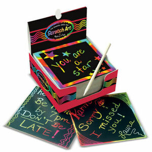 Melissa & Doug 125 Mini Rainbow Scratch Art Notes Kids Art & Craft Creative Toy