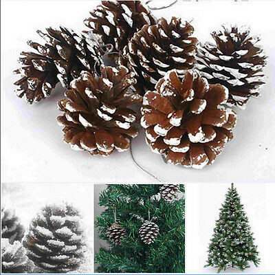Pack Of 9 Christmas Pine Cones Baubles Xmas Tree Hanging Decorations Ornament