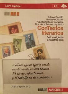 Contextos Literarios zanichelli - 9788808178732 volume unico