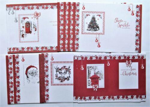 Kanban Monochrome Christmas Card Inserts x 15 A4 Sheets