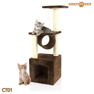 Cozy Pet Deluxe Cat Tree Sisal Scratching Post Quality Cat Trees - CT01-Choc