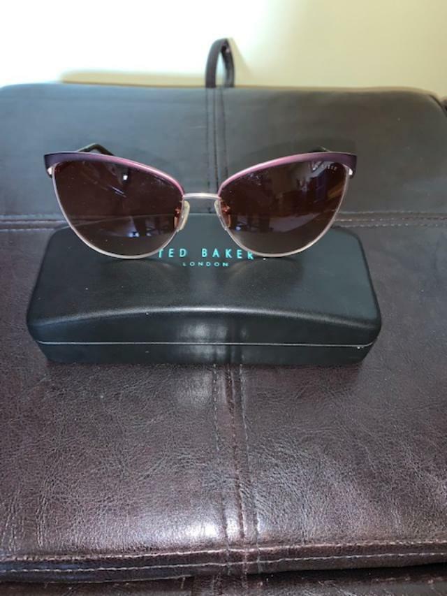Ted Baker B642 Women's Pur Dark Maroon Cat Eye Sunglasses With Case
