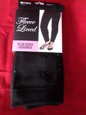 e7233b95746af 1 Pair Gold Medal Plus Size Womens Fleece Leggings Black 1XL/2XL Various  Colors