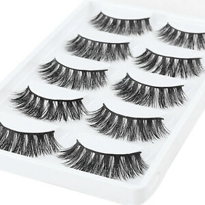 5Pairs-100-Mink-Natural-Black-False-Fake-Eyelashes-Eye-Lashes-Makeup-Extension