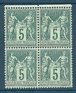 TIMBRES-N-75-NEUF-BLOC-4-SIGNE-ROUMET-COTE-320