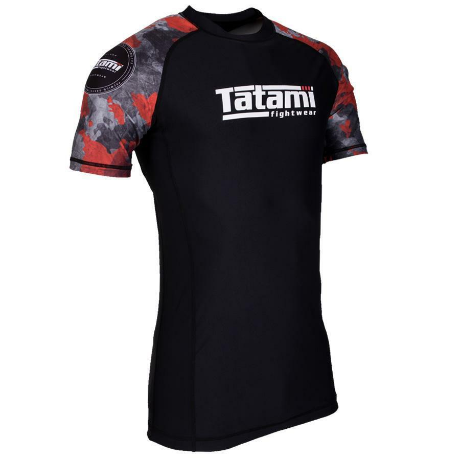 Tatami Renegade Red Mens BJJ Rash Guard Short Sleeve Jiu Jitsu Compression MMA