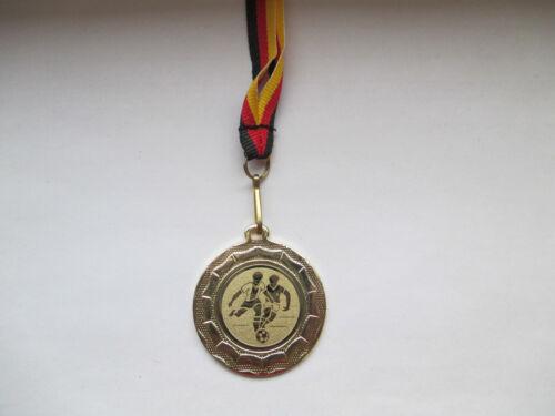 Fußball Pokal Kinder Medaillen 10 x m. Deutschland-Bändern Turnier Logo Fussball