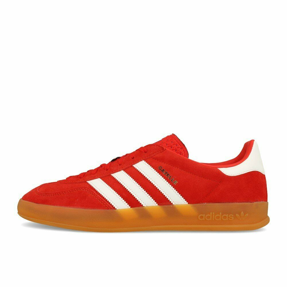 Adidas Gazelle Indoor Active rojo blanco Gum zapatos Trainers rojo blanco marrón
