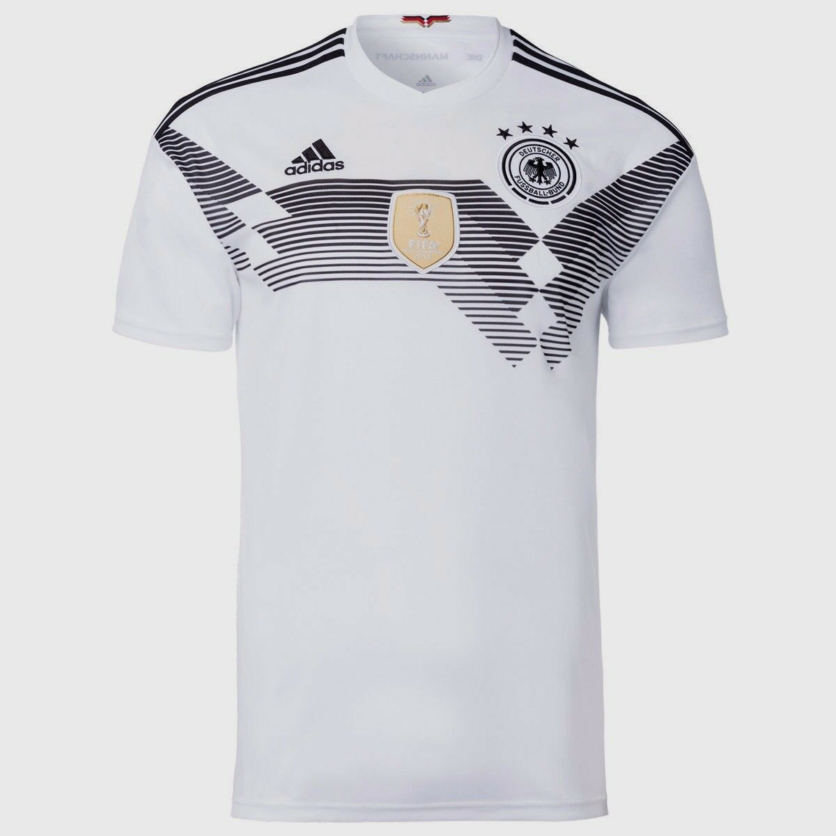 3e23ab599cf40 ADIDAS GERMANY HOME JERSEY JERSEY JERSEY WORLD CUP 2018 White Black. bedc36  Nike ...